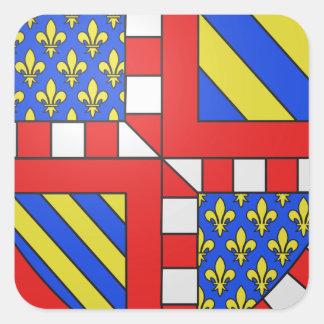 Brasão de Bourgogne (France) Adesivo Quadrado