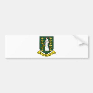 Brasão de British Virgin Islands Adesivo Para Carro