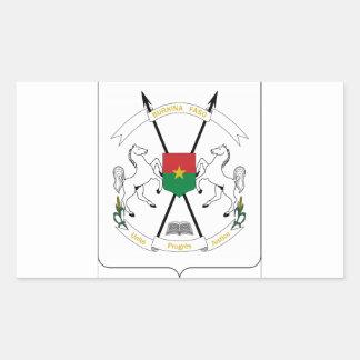 Brasão de Burkina Faso Adesivo Retangular