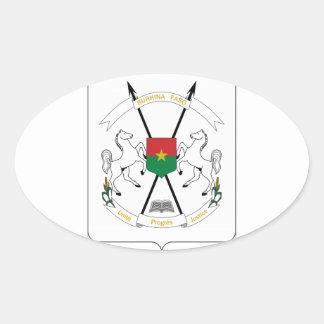 Brasão de Burkina Faso Adesivos Em Formato Oval