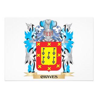 Brasão de Chaves - crista da família Convite Personalizado