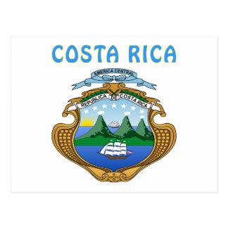 Brasão de Costa Rica Cartões Postais