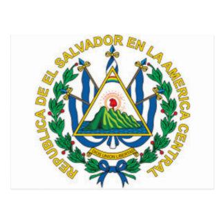 Brasão de El Salvador Cartão Postal