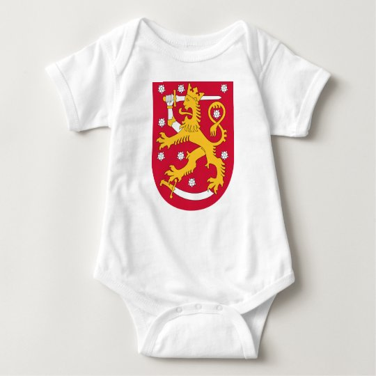 Brasão de Finlandia - Suomen Vaakuna Body Para Bebê
