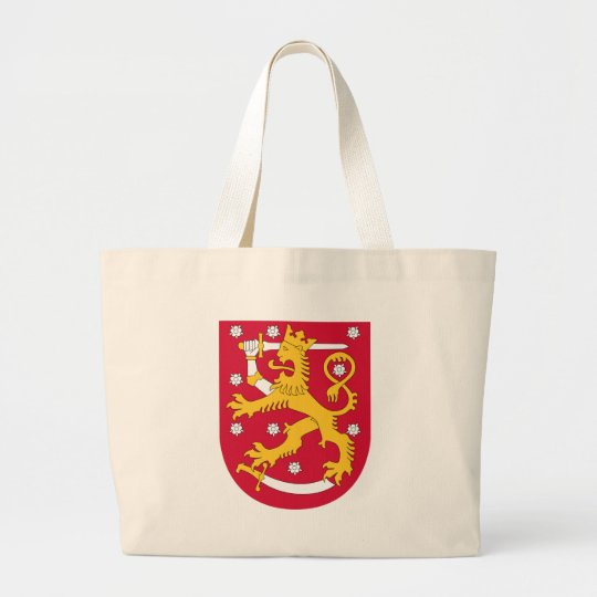 Brasão de Finlandia - Suomen Vaakuna Bolsa Tote Grande