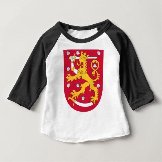 Brasão de Finlandia - Suomen Vaakuna Camiseta Para Bebê