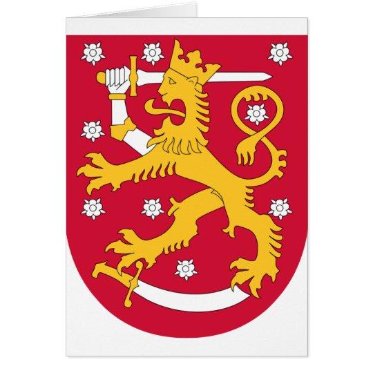 Brasão de Finlandia - Suomen Vaakuna Cartão Comemorativo