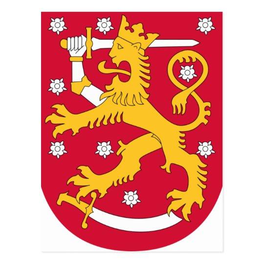 Brasão de Finlandia - Suomen Vaakuna Cartão Postal