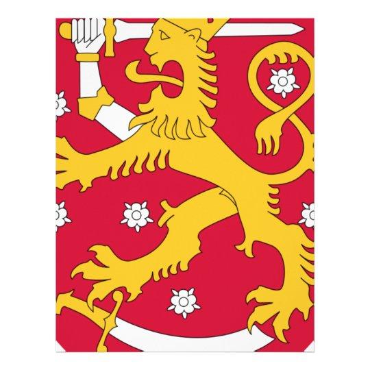 Brasão de Finlandia - Suomen Vaakuna Papel Timbrado