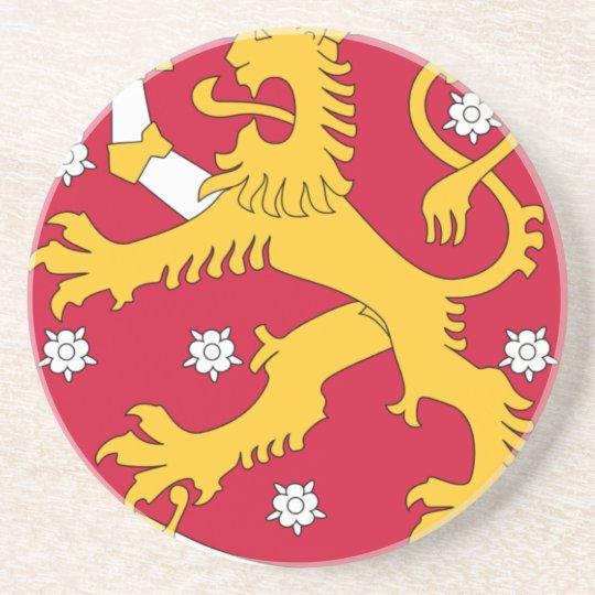 Brasão de Finlandia - Suomen Vaakuna Porta Copos De Arenito