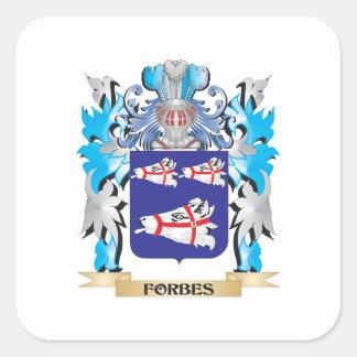 Brasão de Forbes - crista da família Adesivo Quadrado