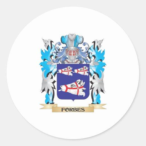 Brasão de Forbes - crista da família Adesivo Em Formato Redondo
