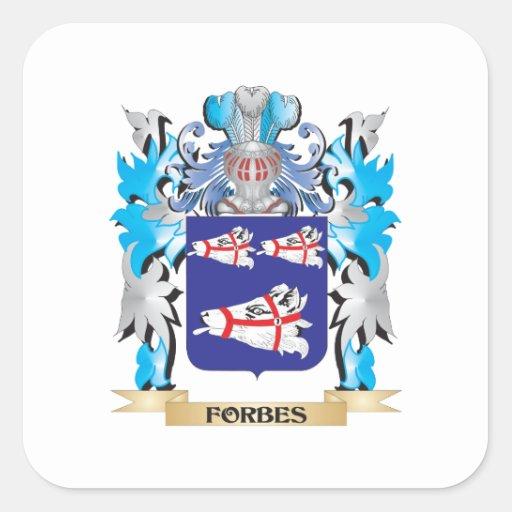 Brasão de Forbes - crista da família Adesivos Quadrados