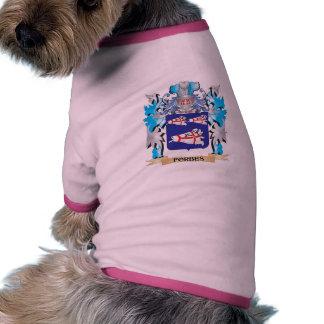 Brasão de Forbes - crista da família Camisetas Para Cães