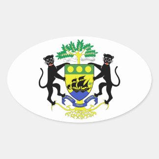 Brasão de Gabon Adesivos Ovais