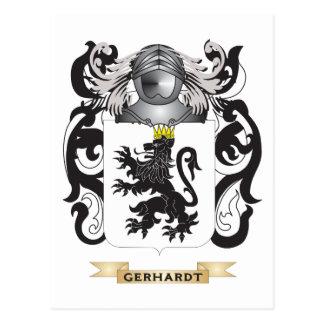 Brasão de Gerhardt (crista da família) Cartoes Postais