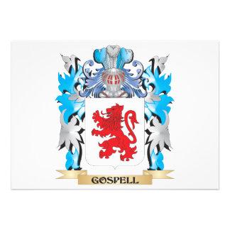 Brasão de Gospell - crista da família Convite Personalizados