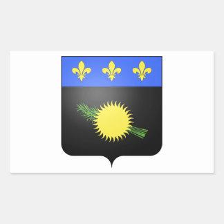 Brasão de Guadalupe (France) Adesivos Retangular