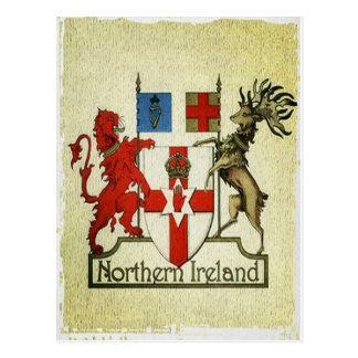 Brasão de Irlanda do Norte Cartão Postal