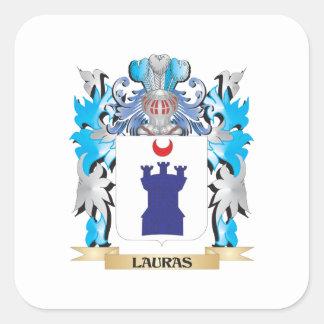 Brasão de Lauras - crista da família Adesivos Quadrados