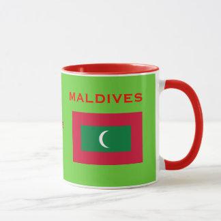 Brasão de Maldives* e caneca da bandeira