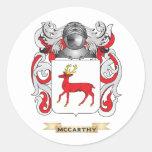 Brasão de McCarthy (crista da família) Adesivo Redondo