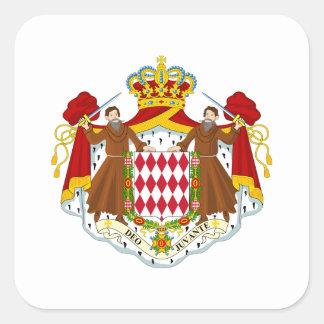 Brasão de Monaco Adesivo Quadrado