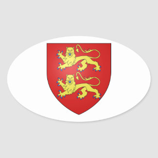 Brasão de Normandy (France) Adesivo Oval