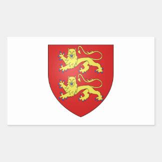 Brasão de Normandy (France) Adesivos Retangular