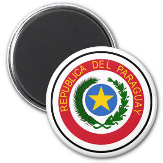 Brasão de Paraguai Ímã Redondo 5.08cm