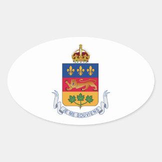 Brasão de Quebeque (Canadá) Adesivos Em Formato Ovais