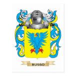 Brasão de Russo (crista da família) Cartão Postal