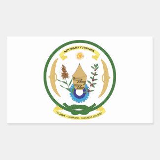 Brasão de Rwanda Adesivos Retangulares