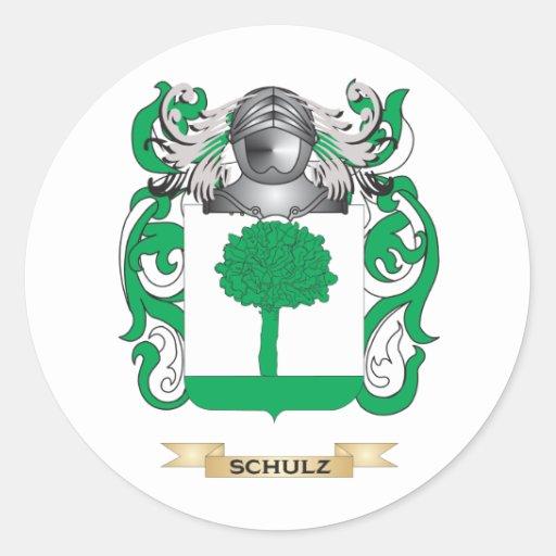 Brasão de Schulz (crista da família) Adesivos Redondos