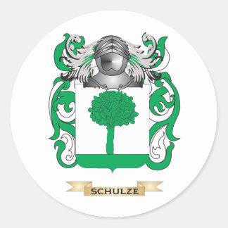 Brasão de Schulze (crista da família) Adesivo Em Formato Redondo