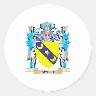 Brasão de Scott - crista da família Adesivo Em Formato Redondo