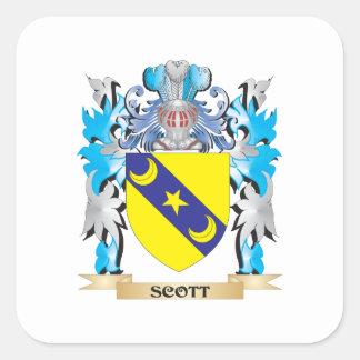 Brasão de Scott - crista da família Adesivo Quadrado