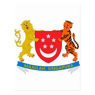 Brasão de Singapore Cartao Postal