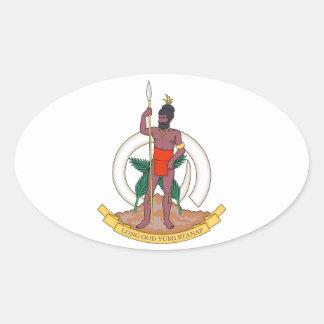 Brasão de Vanuatu Adesivo Oval
