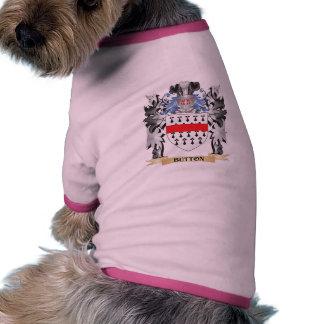 Brasão do botão - crista da família camisa ringer para cachorro