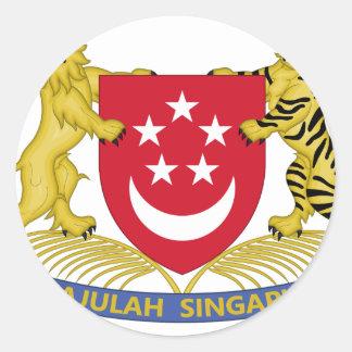 Brasão do emblema do 新加坡国徽 de Singapore Adesivo Redondo