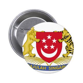 Brasão do emblema do 新加坡国徽 de Singapore Bóton Redondo 5.08cm