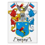 Brasão do Hungarian da família de Beldy Cartão