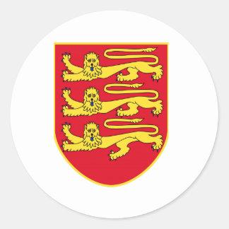 Brasão do jérsei (Reino Unido) Adesivo Redondo