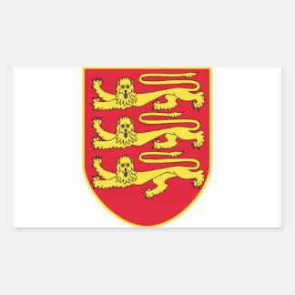 Brasão do jérsei (Reino Unido) Adesivo Em Formato Retângular