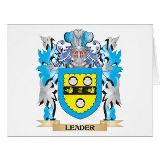 Brasão do líder - crista da família cartões