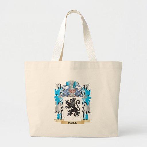 Brasão do molde - crista da família bolsas para compras