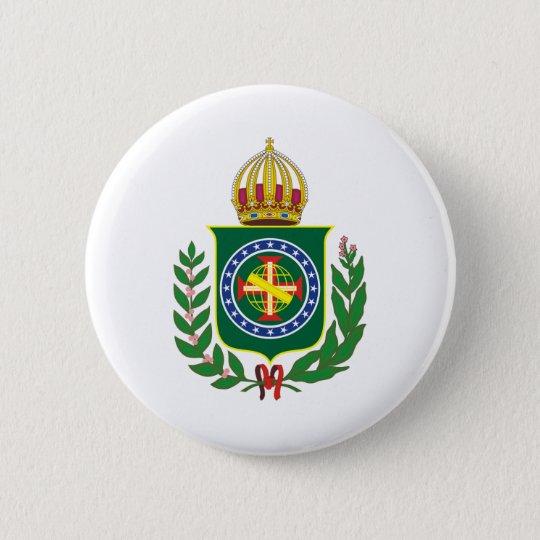 Brasão Império do Brasil Bóton Redondo 5.08cm