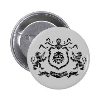 Brasão medieval - botão bóton redondo 5.08cm
