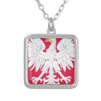 Brasão polonesa do Polônia Colar Banhado A Prata